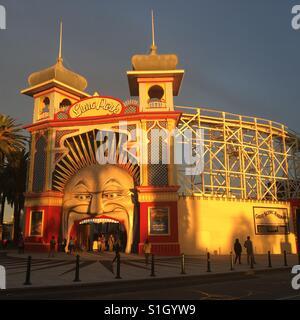 Luna Park in St. Kilda Melbourne - Stock Image