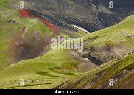Tolbachik volcano area on Kamchatka - Stock Image