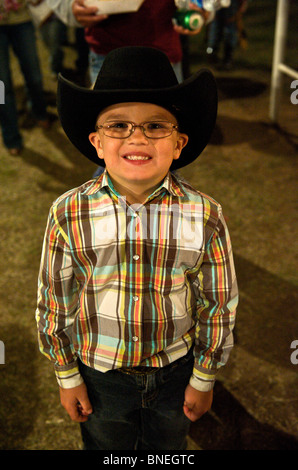 Young cowboy at a small town PRCA rodeo Bridgeport, Texas, USA - Stock Image