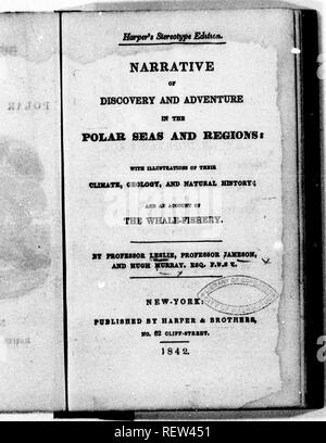 . Narrative of discovery and adventure in the polar seas and regions [microform] : with illustrations of their climate, geology, and natural history, and an account of the whale-fishery. Natural history; Sciences naturelles. . Please note that these images are extracted from scanned page images that may have been digitally enhanced for readability - coloration and appearance of these illustrations may not perfectly resemble the original work.. Leslie, John, Sir, 1766-1832; Jameson, Robert, 1774-1854; Murray, Hugh, 1779-1846. New-York : Harper - Stock Image