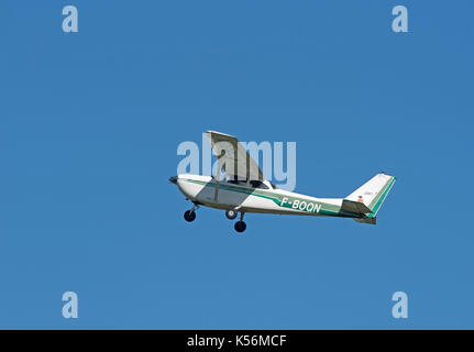 French Registered Cessna 172E visiting Inverness airport with five other French aircraft on a GB flying tour. - Stock Image