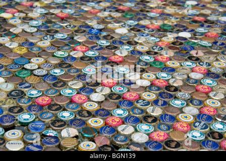 Beer caps - Stock Image