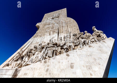 Lisbon, Portugal, August 6, 2017: Monument to the Discoveries, architect Cottinelli Telmo, sculptor Leopoldo de - Stock Image