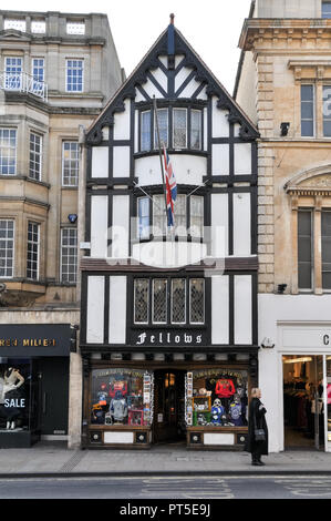 Fellows gift shop on High Street, Oxford - Stock Image
