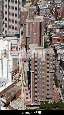 Apartments around Harrison Street - Stock Image