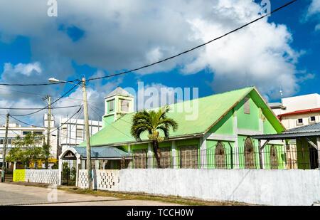 St. Andrew Presbyterian Church in Belize City - Stock Image