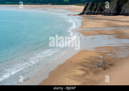 Three Cliffs Bay Gower Swansea Wales - Stock Image