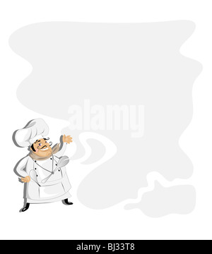 Chef  background for menu and recipe - Stock Image