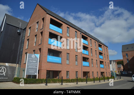 Arden Quarter, a housing development in the Warwickshire town of Stratford upon Avon close to the railway station - Stock Image