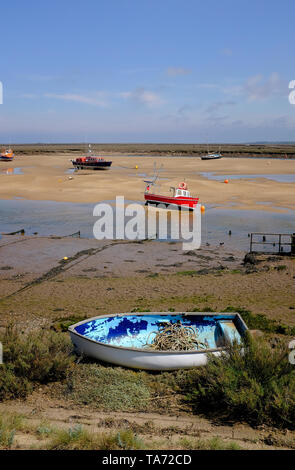 boats at wells-next-the-sea, north norfolk, england - Stock Image
