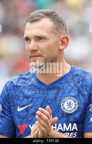 Madrid, Spain. 23rd June, 2019. Andrii Shevchenko (Chelsea) Football/Soccer : Friendly 'Corazon Classic Match 2019' between Real Madrid Leyendas 5-4 Chelsea Legends at the Santiago Bernabeu Stadium in Madrid, Spain . Credit: Mutsu Kawamori/AFLO/Alamy Live News - Stock Image