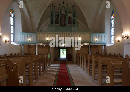 Interior of Mihkli Church in Pärnu County. Estonia Baltic States EU - Stock Image