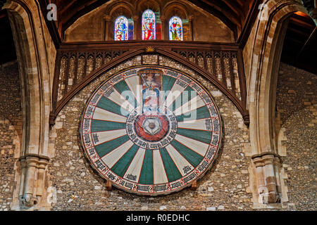 UK Winchester The Round Table - Stock Image