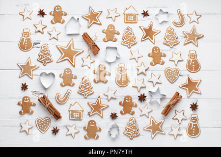 christmas cookie with baking ingredient - Stock Image