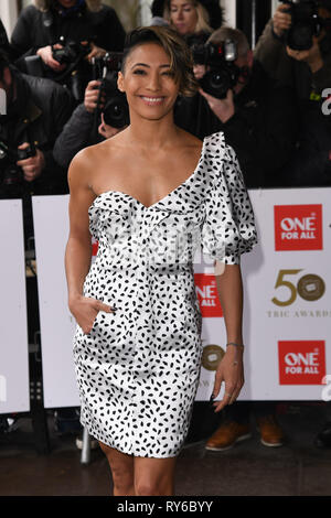 London, UK. 12th Mar, 2019. LONDON, UK. March 12, 2019: Karen Clifton arriving for the TRIC Awards 2019 at the Grosvenor House Hotel, London. Picture: Steve Vas/Featureflash Credit: Paul Smith/Alamy Live News - Stock Image