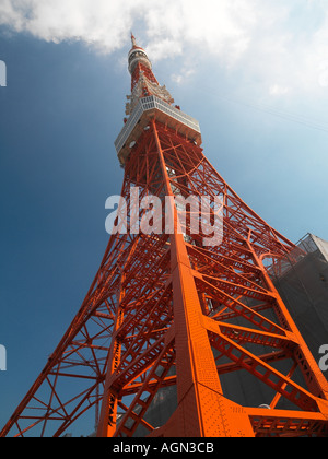 The Tokyo Tower in central Tokyo in Japan - Stock Image