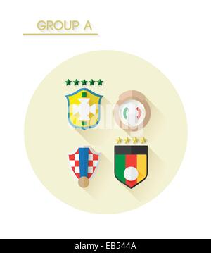 Group a with country crests - Stock Image