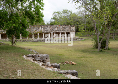 Portico of the East, Uxmal Archeological Site, Yucatan Peninsular, Mexico - Stock Image