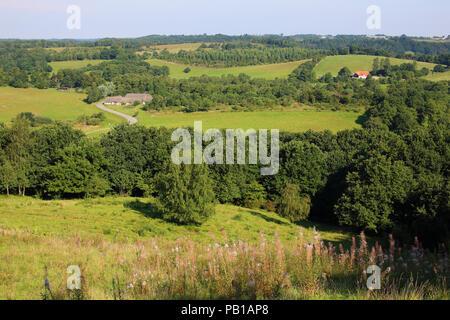 The gently rolling hills at Torskind near Vejle in Denmark. - Stock Image