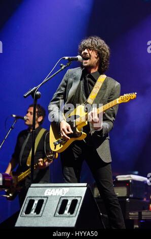 3 August 2013 - Santander, Spain - Spanish indie band Lori Meyers performs during the 'Santander Music 2013' - Stock Image
