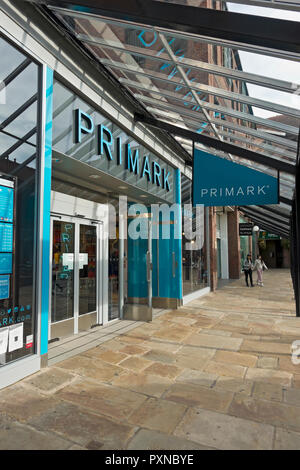 Primark clothing and accessories shop store Coppergate Shopping Centre York North Yorkshire England UK United Kingdom GB Great Britain - Stock Image