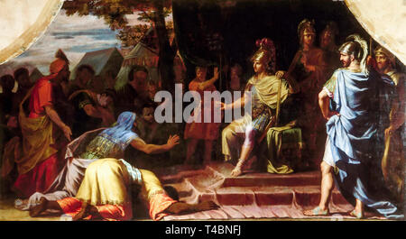 Alexander the Great Receiving News of the Death by Immolation of the Indian Gymnosophist Calanus, painting by Jean-Baptiste de Champaigne, 1672 - Stock Image