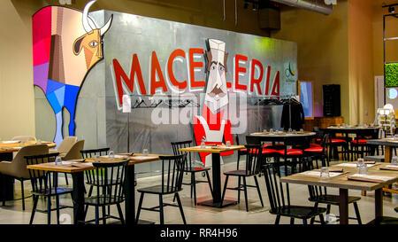 macelleria meat area Fico Eataly Bologna Italy - Stock Image