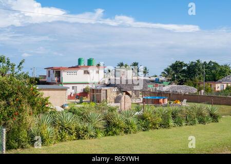 Small Cuban town on the Atlantic coast near Havana Cuba. - Stock Image