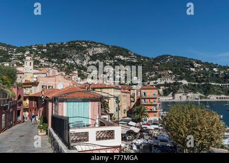 Villefranche sur mer, Cote d Azur, South of France, - Stock Image