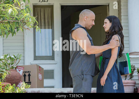FAST AND FURIOUS 7 2015 Universal Pictures film with Vin Diesel and Jordanna Brewster - Stock Image