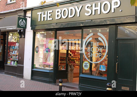 The Body Shop, shop front, Gloucester - Stock Image