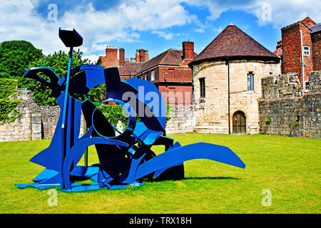 Sculpture, Marygate Tower, Bootham , York, England - Stock Image