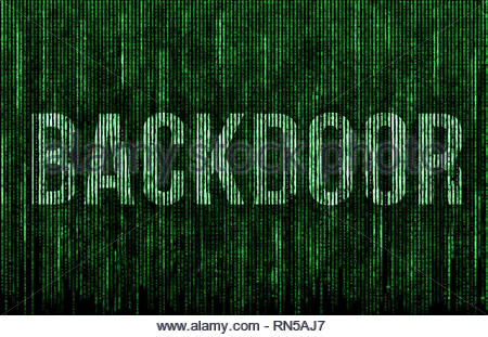 Backdoor in a Computer System - Stock Image