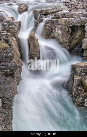 Sunwapta Falls - Stock Image