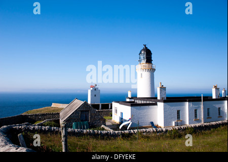 dunnet head point lighthouse - Stock Image
