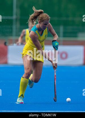 Krefeld, Germany, June 16 2019, hockey, women, FIH Pro League, Germany vs. Australia:  Madison Fitzpatrick (Australia) controls the ball. - Stock Image