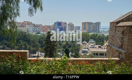View of Málaga from La Alcazaba. Andalusia, Spain. - Stock Image