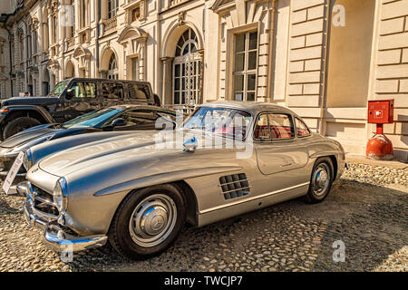 Piedmont Turin - Turin auto show 2019  - Valentino park - Valentino castle - Mercedes - Stock Image