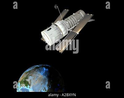 Hubble space telescope - Stock Image