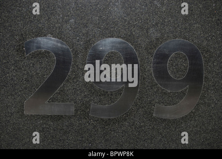 number of a building in New York City NY - Stock Image