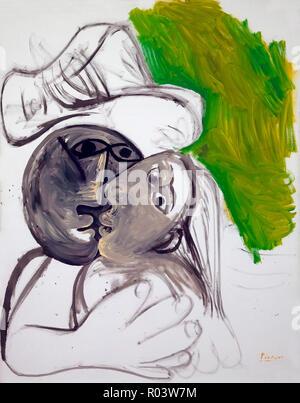 The Kiss, Pablo Picasso, 1969, Zurich Kunsthaus, Zurich, Switzerland, Europe - Stock Image