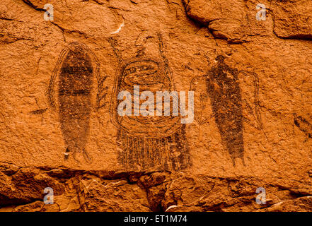 Intestine Man Pictograph - Moab, Utah - Stock Image