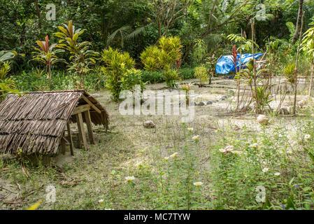 Cemetery on Mushu Island, Papua New Guinea - Stock Image