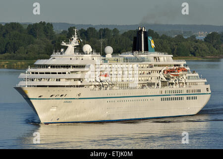 Amadea arriving at Hamburg - Stock Image