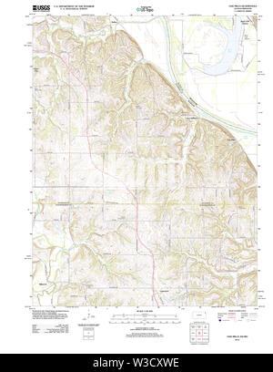 USGS TOPO Map Kansas KS Oak Mills 20120907 TM Restoration - Stock Image