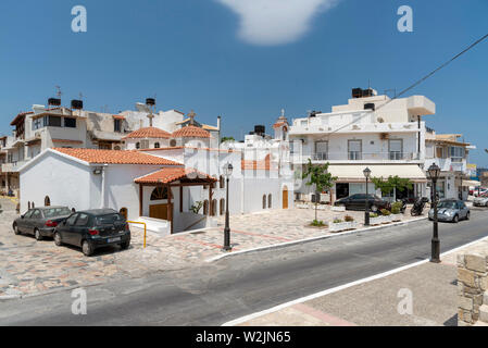 Crete, Greece. June 2019.  The Church of  Afendis Christos close to the small harbour in Ierapetra, southern Crete. - Stock Image
