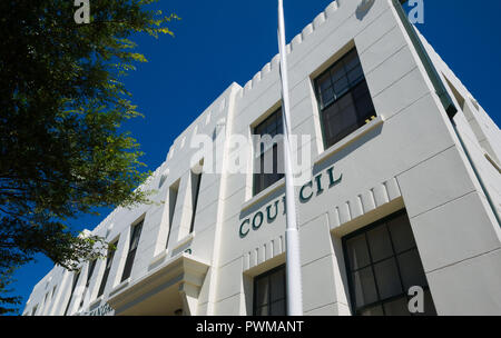 View of the recently upgraded Kangaroo Island Council building in Dauncey Street, Kingscote on Kangaroo Island, South Australia, Australia. - Stock Image