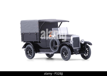 The Classic black lorry. - Stock Image