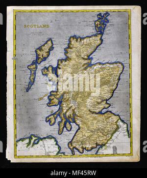 1804 Arrowsmith Map - Scotland - Edinburgh Glasgow Loch Ness Inverness Orkney Islands - Stock Image