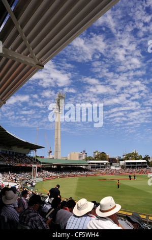 Section of crowd at the WACA ground in Perth during Test Match. - Stock Image